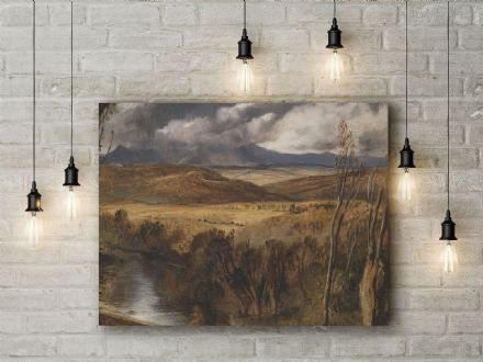 Sir Edwin Landseer: A Highland Landscape. Fine Art Canvas.
